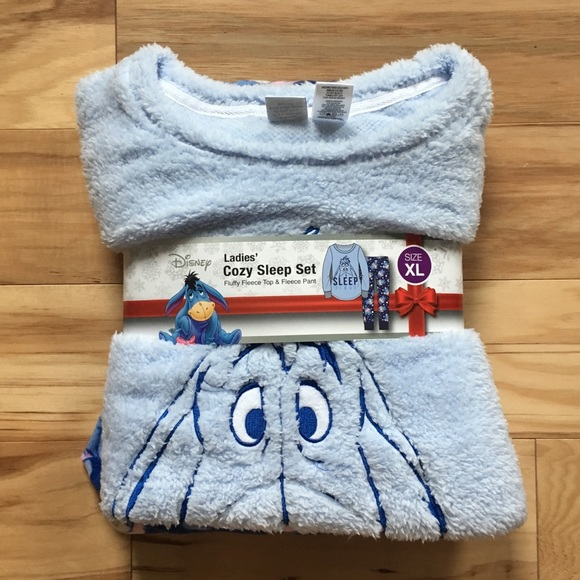 "ba975aab65 Disney Eeyore ""Sleep First"" Fleece Sleep Set"